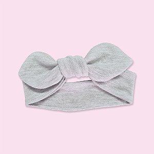 Faixa de Cabelo para Bebê Cinza Mescla