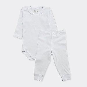 Pijama Branco Liso