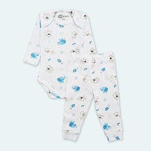 Pijama Canelado Elefante