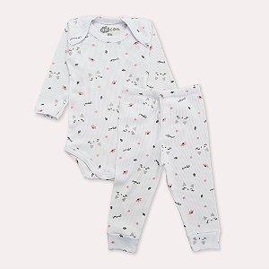 Pijama Canelado Gatinha