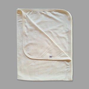 Manta Básica em Malha de Algodão Off White