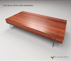 Mesa de Centro PARAHYBA II, em madeira maciça de massaranduba, Linha CLASSIC
