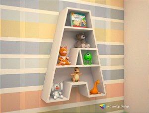 Nicho de parede Infantil letras - Série Alphabeto