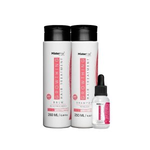 Kit Growthing Hair Treatment - Mister Hair (Shampoo + Balm + Tônico)