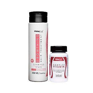 Kit Anti-Queda Vitamínico (Shampoo + Suplemento)