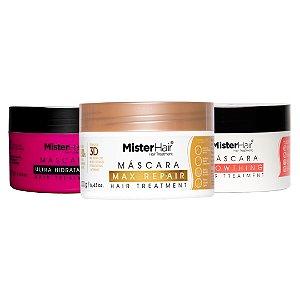 Cronograma Capilar - Ultra Recuperação - Mister Hair 200g (Ultra + Max + Growthing)