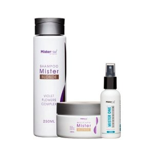 KIT Mister Blonde (Shampoo e Máscara) com Leave-in Mister One - Mister Hair