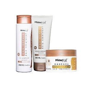 kit Max Repair (Shampoo, Condicionador e Máscara) - Mister Hair