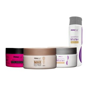 Cronograma Capilar para Loiras - Mister Hair [Blonde (Shampoo + Máscara)  + Max Repair + Ultra]