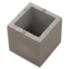 Meio Bloco estrutural 4,5 mpa 19x19x19