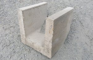 meia canaleta de concreto 19x19x19