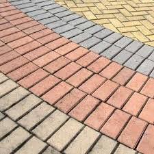Piso Intertravado Colorido Retangular 10x20x06  M2