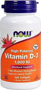 Vitamina D3 1,000 UI NOW FOODS 360 Softgels