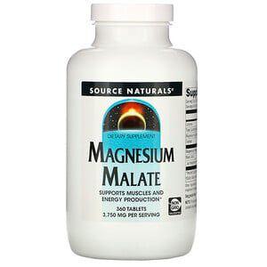 Magnésio Dimalato Source Naturals 360 tablets 1250mg por tablet