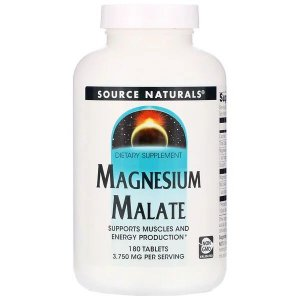 Magnésio Dimalato Source Naturals USA 1250mg 180 Tablets