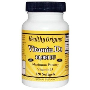 Vitamina D3 10.000 UI    120   cápsulas Healthy Origins