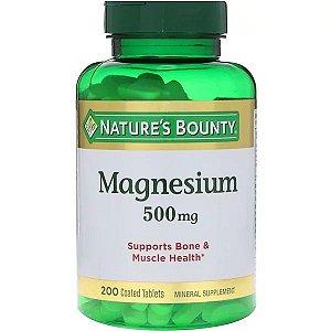 Óxido de Magnésio 500mg 200 Cápsulas Nature's Bounty