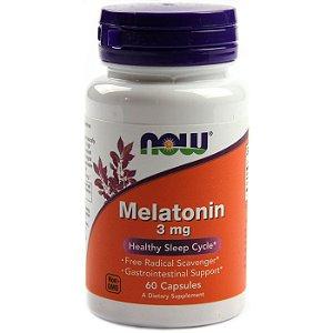 Melatonina NOW 60 Cápsulas de 3mg