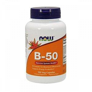 Vitamina Complexo B-50 100 Cápsulas Vegetarianas