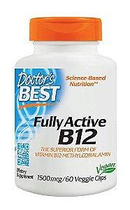Vitamina B-12 Doctor's Best Metilcobalamina 60 Cápsulas Vegetarianas