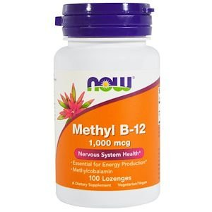 Vitamina B-12 Metilcobalamina Importada NOW FOODS 1000mcg 100 Cápsulas
