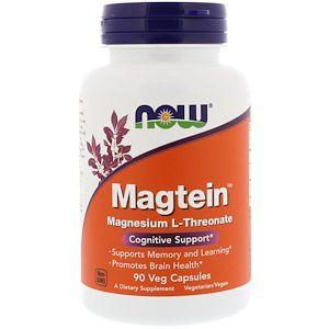 L-Treonato de Magnésio 90 Cápsulas Vegetarianas Now Foods