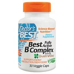 Complexo B Doctor's Best 30 Cápsulas Vegetarianas