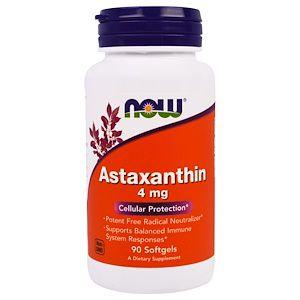 Astaxantina NOW FOODS 4mg 90 Softgels