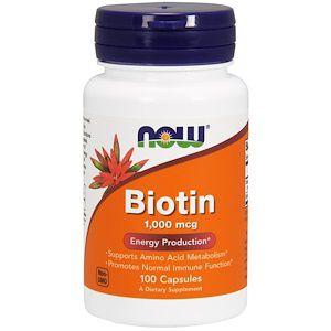 Biotina NOW FOODS 1000mcg 100 Cápsulas