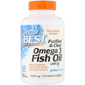 Ômega-3 1000mg 120 Softgels Doctors Best 400EPA/200DHA