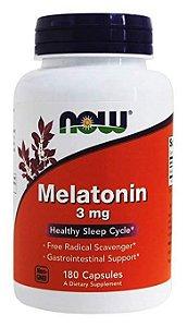 Melatonina NOW FOODS 3mg 180 Cápsulas