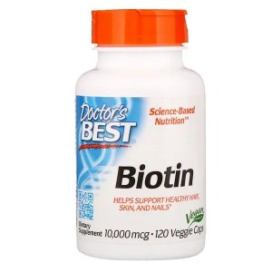 Biotina 10,000mcg Doctors Best 120 Cápsulas Gelatinosas