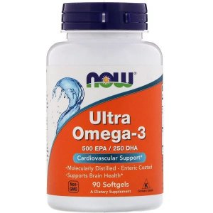 Ultra Ômega 3 500EPA/ 250DHA NOW FOODS 90 Softgels 1000mg