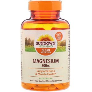 Magnésio Sundown Naturals 500mg 180 Cápsulas Revestidas
