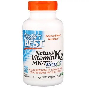 Vitamina K2 MK-7 Doctor's Best 45mcg 180 Softgels