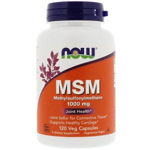MSM Now Foods 1000mg 120 Cápsulas
