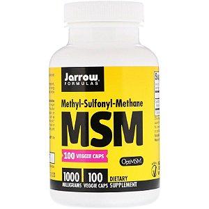 MSM Jarrow Formulas 1000mg 100 Cápsulas