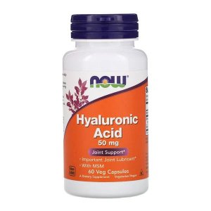 Ácido Hyaluronico NOW FOODS 50mg 60 Cápsulas