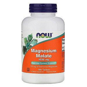 Magnésio de Malato Importado NOW FOODS 180 Cápsulas 1000mg