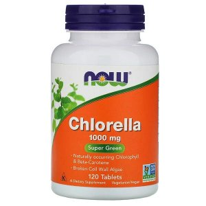 Chlorella 1000mg 120 Tablets NOW Foods