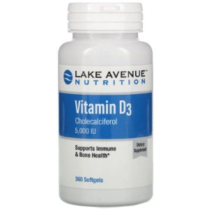 Vitamina D3 5,000UI Lake Avenue 360 softgels
