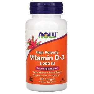 Vitamina D3 1.000UI Now Foods 180 Softgels