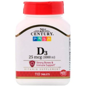 Vitamina D3 10,000UI 21 CENTURY 110 Tablets
