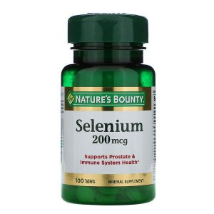 Selênio Nature's Bounty 200mcg 100 Tablets