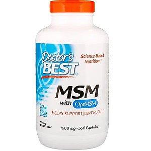 MSM Doctors Best 1000mcg 360 Cápsulas