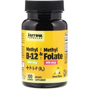 Vitamina B-12 1000mcg & Methyl Folate 400mcg Jarrow Formulas