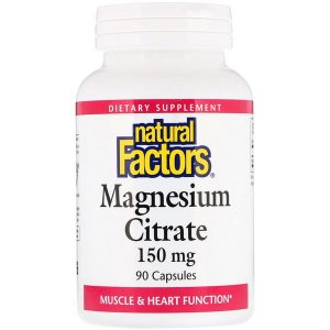 Magnésio Citrato - Natural Factors - 150mg 90 Cápsulas