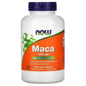 Maca Peruana NOW FOODS 500mg 250 Cápsulas Vegetais