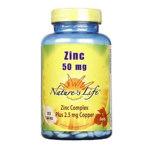 Zinco Natures Life 50mg 250 Tablets