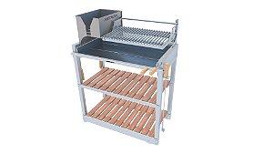 Parrilla Recoleta Inox / Grelha Regulável de Aço Inox 304 / Queimador com Inox Para Alta Temperatura
